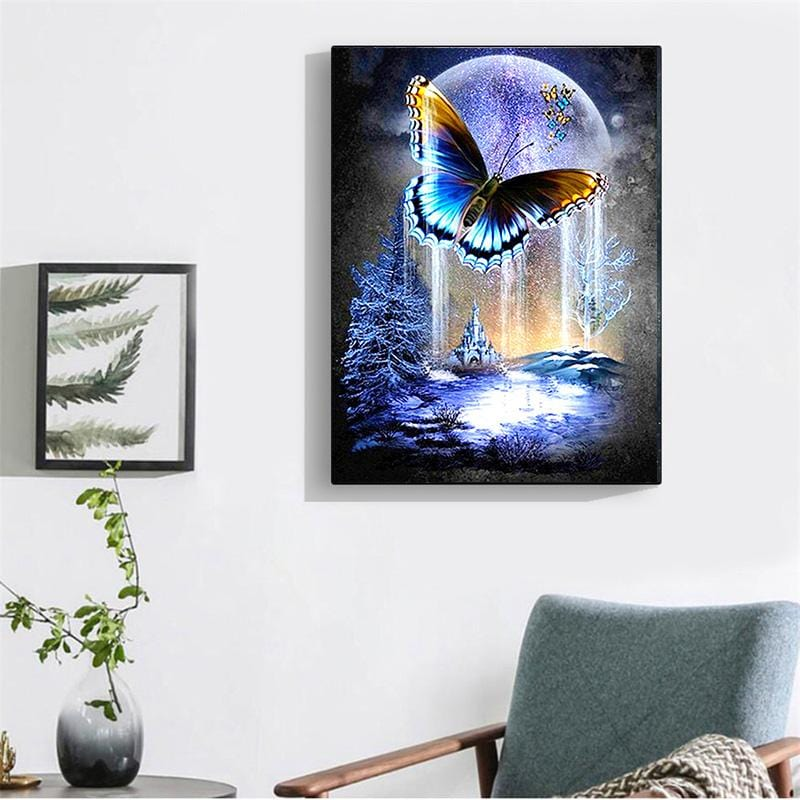 DIY Full Drill 5D Diamond Painting Kit - Butterfly Moon