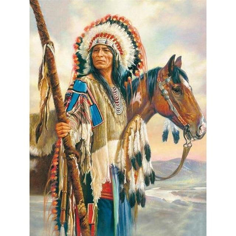 Image of DIY 5D Diamond Painting Kit - Native American Indian