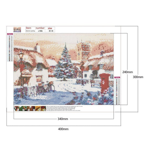 Image of DIY 5D Diamond Painting Kit - Winter Snow Scenery