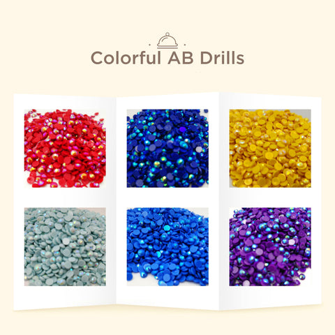 Diamond Painting Round AB Drills 23 Colors