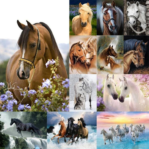 Image of DIY 5D Diamond Painting Kit - Horse Love
