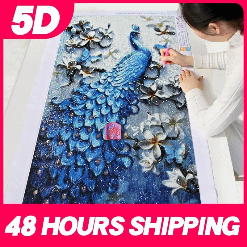 DIY 5D Special Shaped Diamond Painting Kit - Peacock Fantasy