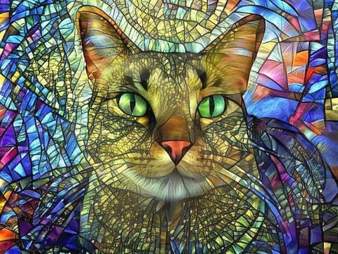 5D DIY Diamond Painting- Star Cat