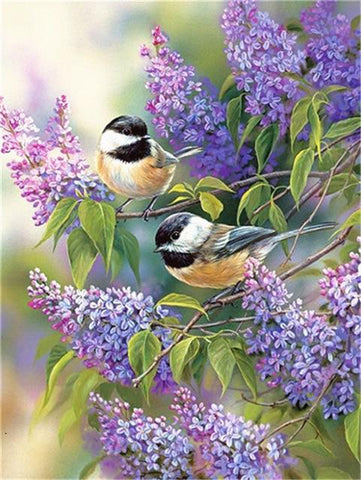 Image of DIY 5D Diamond Painting Kit - Bird Nature Scene