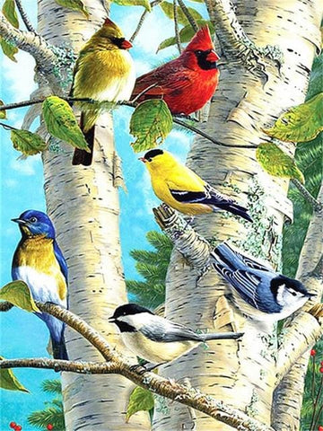 DIY 5D Diamond Painting Kit - Bird Nature Scene