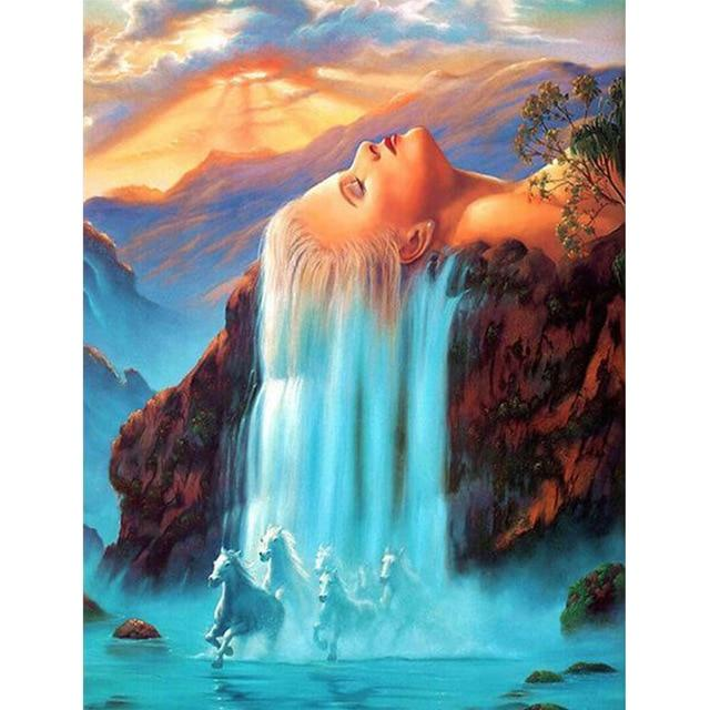 DIY 5D Diamond Painting Kit - Waterfall Scenes