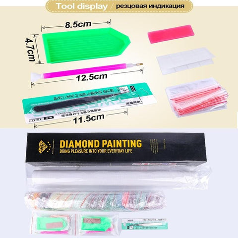 Image of Special Shaped DIY 5D Diamond Painting Kit - Pink Peacock