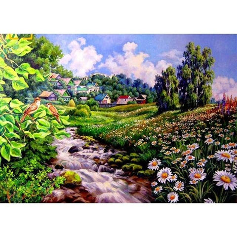 Image of DIY 5D Diamond Painting Kit - Summer Landscape