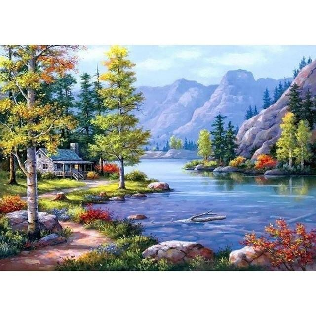 DIY 5D Diamond Painting Kit - Summer Landscape