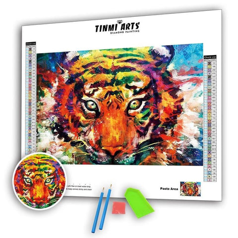 Image of 5D DIY AB Drill Diamond Painting Kit - Watercolor Tiger