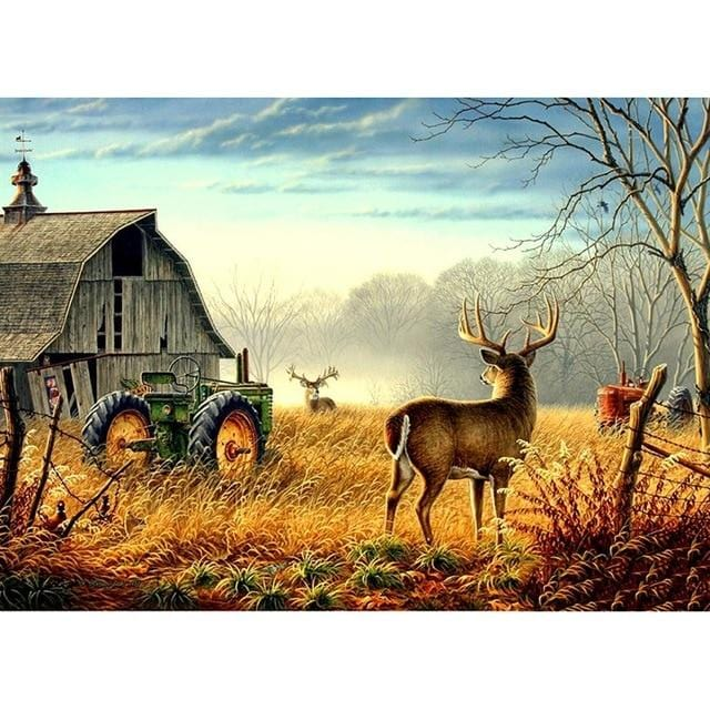 DIY 5D Diamond Painting Kit - Deer Field