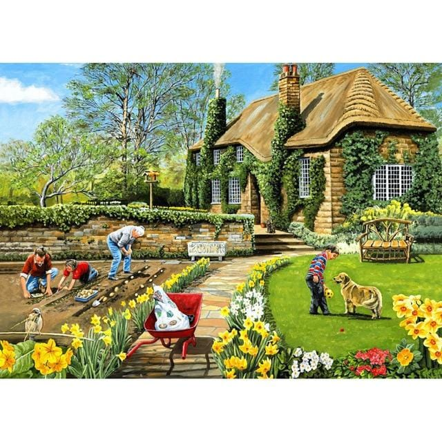 DIY 5D Diamond Painting Kit - Village Neighborhood