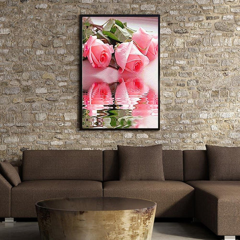 DIY 5D Diamond Painting Kit - Rose Reflections