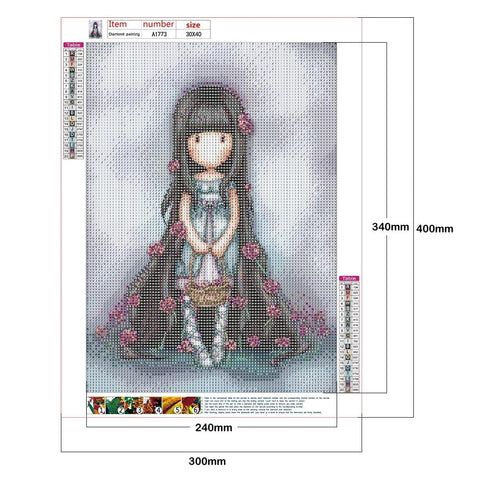 Image of DIY Full Round Drill Diamond Painting Kit - Goliath Doll