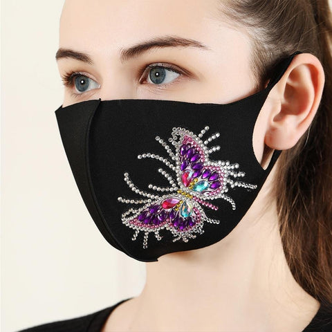 DIY 5D Mosaic Diamond Painting Face Mask Kit
