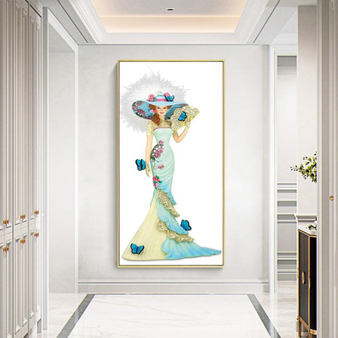 Image of DIY 5D Diamond Painting Kit - Doll Silhouette Craft 50 x 50cm