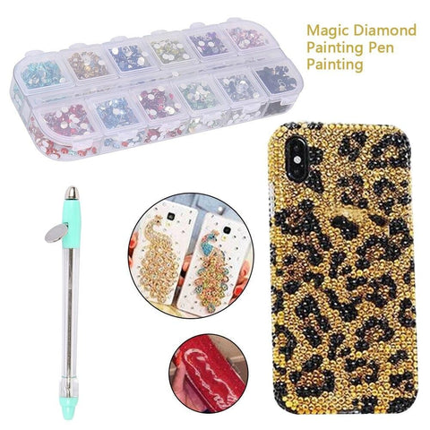 Image of Diamond Painting Pen Manual Point Drill Pen Embroidery Tool Phone Case Decoration Rhinestone Nail Art Diamond Painting