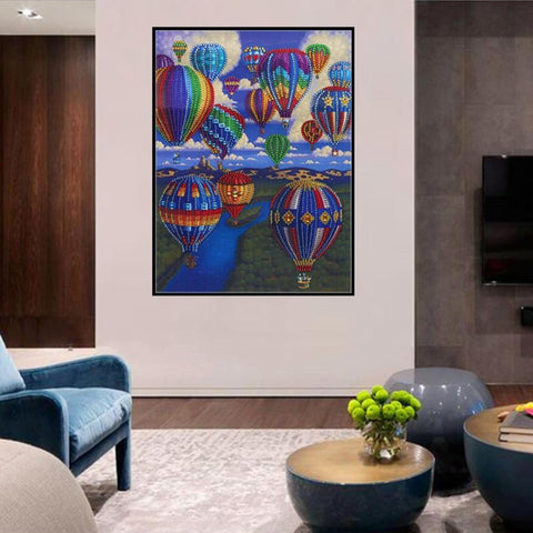 Image of Special Shaped Diamond Painting Kit - Hot Air Balloon