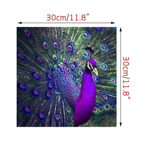 Image of 5D DIY Diamond Painting Kit - Purple Peacock