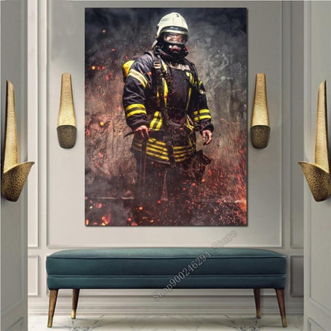 DIY 5D Diamond Painting Kit - Hero Fireman
