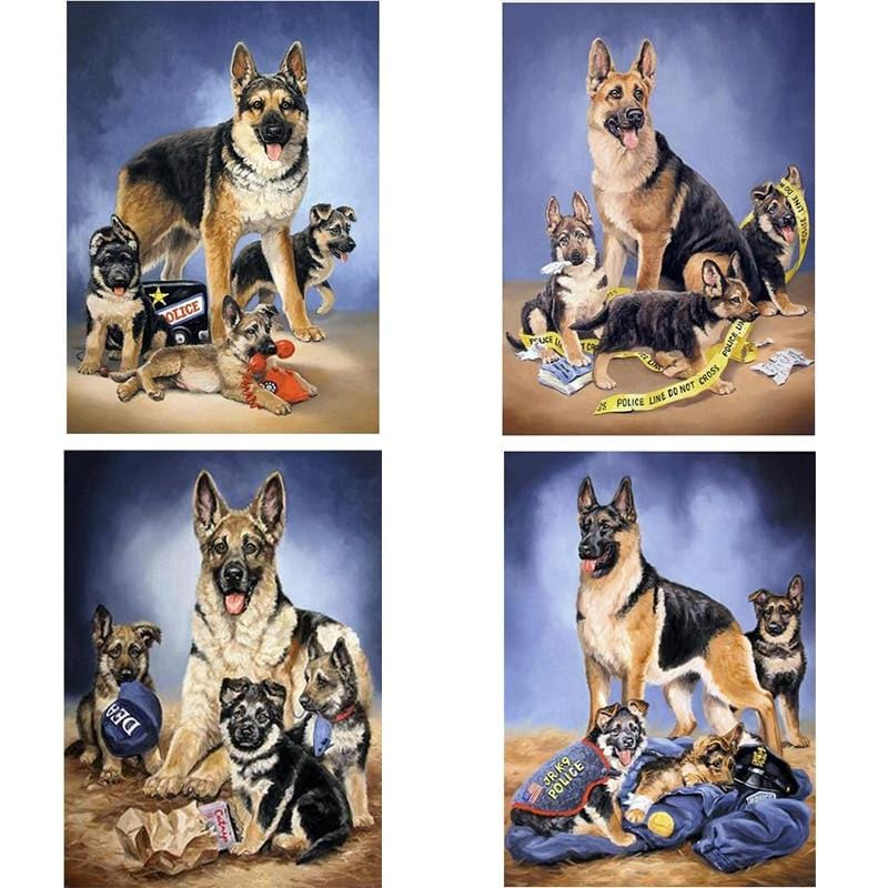 5D DIY Diamond Painting Kit - Police Dog k-9