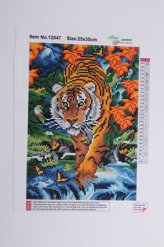 5D DIY AB Drill Diamond Painting - Tiger and Butterfly
