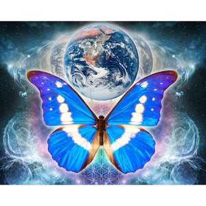 5D DIY Diamond Painting Kit - Earth Butterfly
