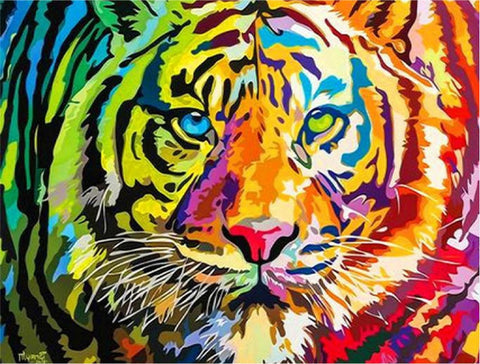 AB Drill Diamond Painting Kits - Tiger Eyes