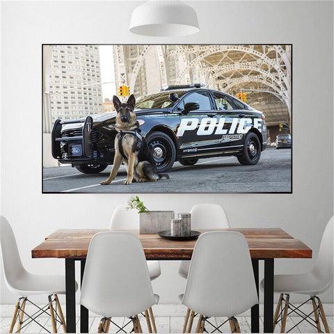 Image of 5D DIY Diamond Painting Kit - Police K9
