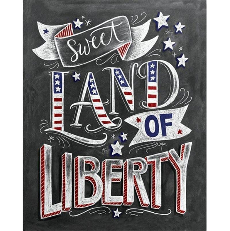 5D DIY Diamond Painting Kit - Land Of Liberty