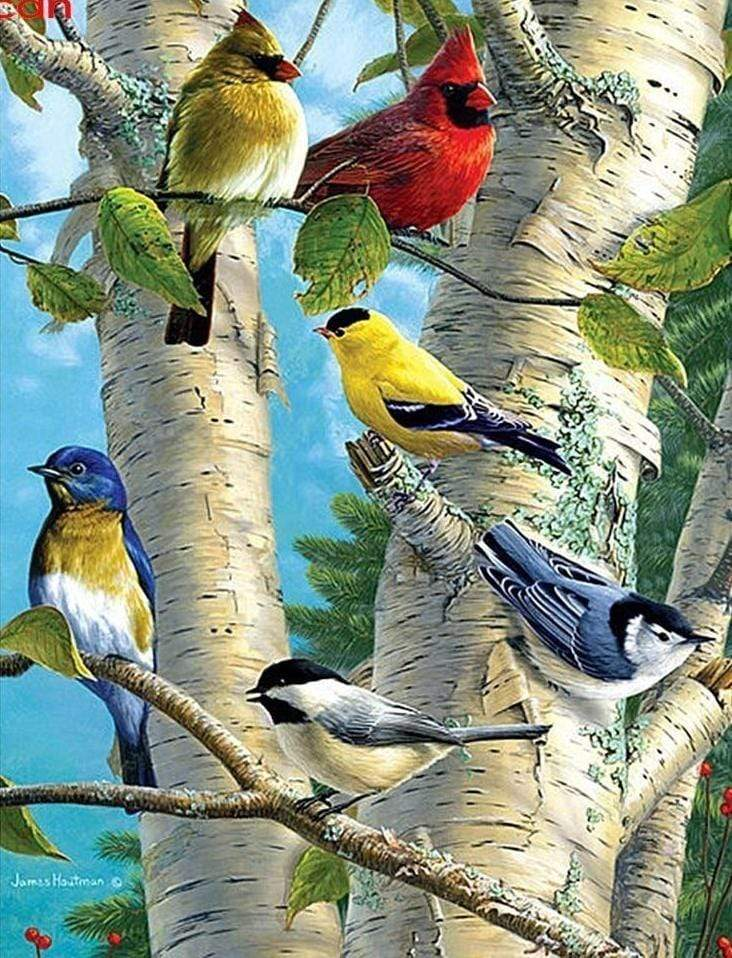 """Rare Birds on a Seaside Tree"" 