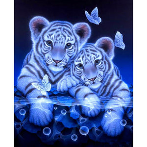 Tiger Twins | 5D DIY Diamond Art Painting Kits Cross Stitch Decor Diamond Art Painter