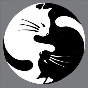 Yin Yang Cats-(DIY) Full Drill 5D Diamond Painting Kit Cross Stitch Home Decor Diamond Art Painter