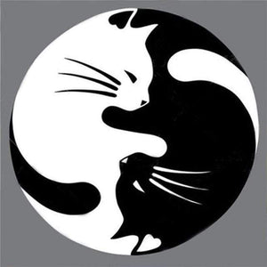 Yin Yang Cats-(DIY) Full Drill 5D Diamond Painting Kit Cross Stitch Home Decor