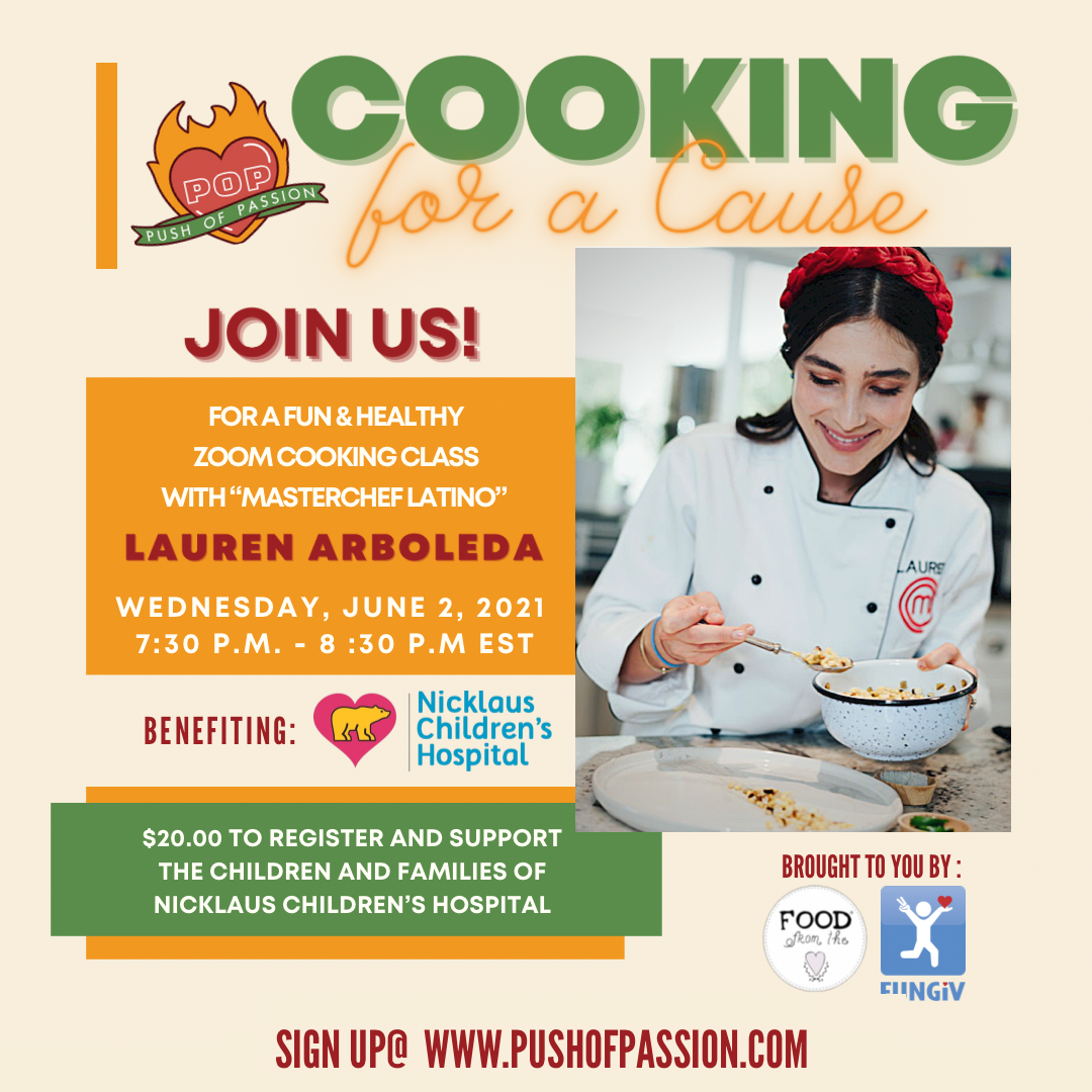 Push of Passion: Cooking For A Cause! with