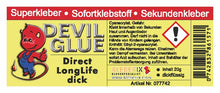 Laden Sie das Bild in den Galerie-Viewer, DEVIL GLUE Direct-Home Longlife 20g **dickflüssig** (Modellbaukleber, Bastelkleber)