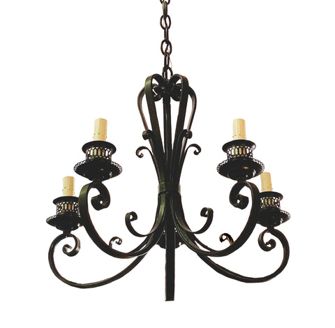 5 Light Iron Chandelier