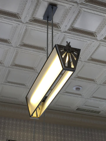 Custom Art Deco Light for Billy Can Can