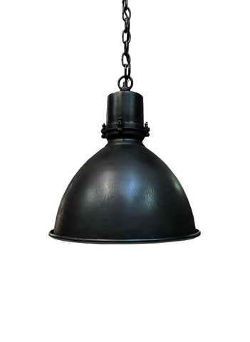 Vintage Black Enamel Pendant Light Fixture
