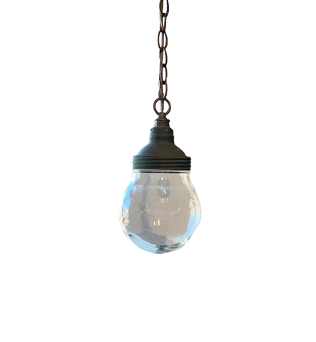 Small Benjamin Glass Globe Pendant Light