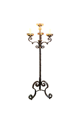 4 Light Iron Floor Candelabra