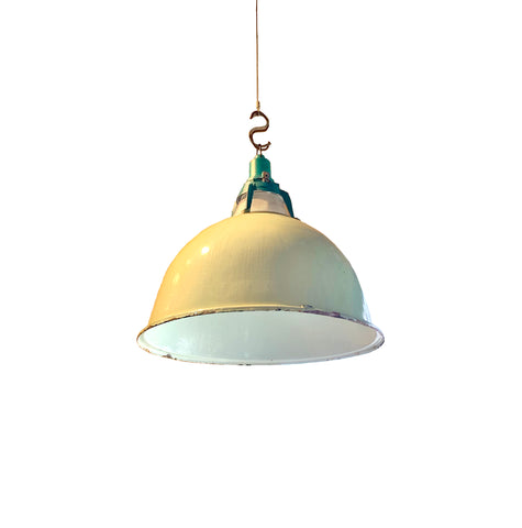 Vintage Green Industrial Pendant Light