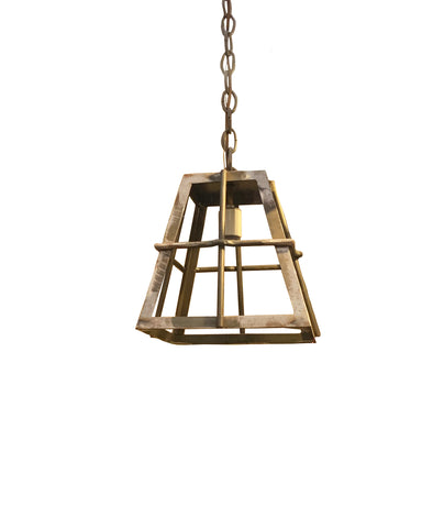 Iron Lantern for Interior or Covered Exterior Use