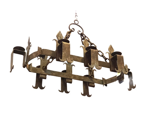 8 Light Iron Gothic Chandelier for Kitchen Island