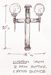 Sketch of Gothic Sconce for Bedroom in HGTV Smart Home 2019