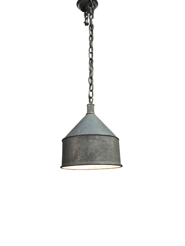 Vintage Industrial Metal Grain Bin Light Fixture