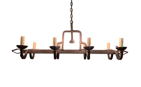 8 Light Iron Chandelier for Kitchen Island