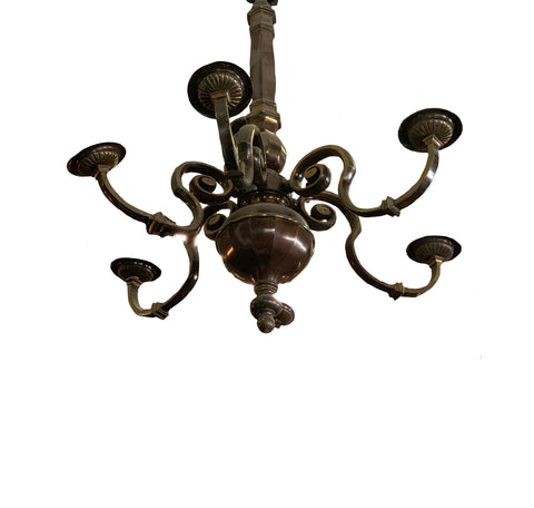 6 Light Metal Chandelier