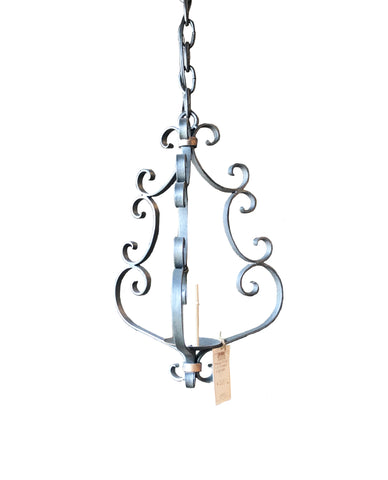 Small One Light Scrolled Chandelier