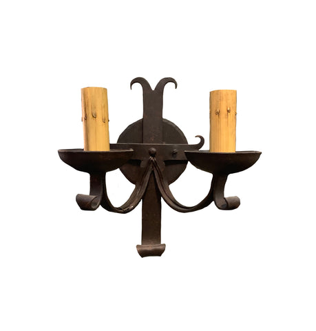 2 Light Iron Sconce